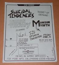 Suicidal Tendencies Promo Concert Flyer Vintage 1984 San Bernardino - $24.99