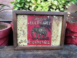Vintage Old Original Bear's Elephant  Cigarette Adv Tin Sign Board - $78.21