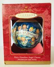 Hallmark Mary Hamilton Angel Chorus Christmas Ornament 2001 Rich LaPierre in Box - $9.50