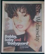 WHITNEY HOUSTON SHOW NEWSPAPER SUPPLEMENT VINTAGE 1993 - $32.99