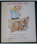 VINTAGE 1950 AMERICAN GREETINGS FATHER'S DAY CARD - $9.99