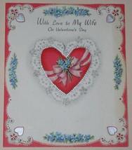 Vintage 1947 Hallmark Valentine Greeting Card Scrapbook - $12.99