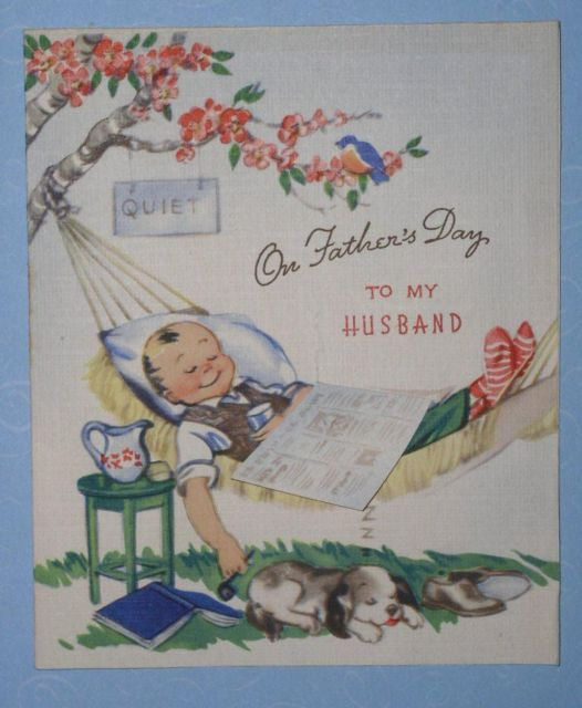 VINTAGE 1948 FATHER'S DAY GREETING CARD SCRAPBOOKING