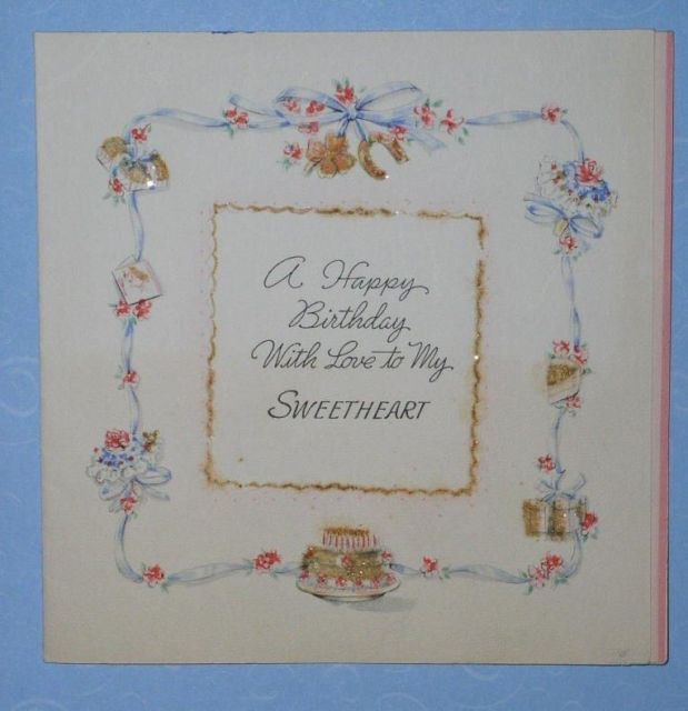 Vintage 1943 Hallmark Birthday Greeting Card And 24 Similar Items