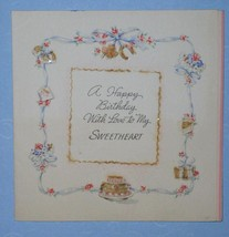 VINTAGE 1943 HALLMARK BIRTHDAY GREETING CARD SCRAPBOOK - $9.99