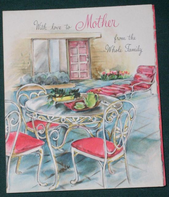 VINTAGE 1940'S HALLMARK MOTHER'S DAY GREETING CARD