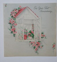 VINTAGE 1945 HALLMARK ANNIVERSARY GREETING CARD - $9.99