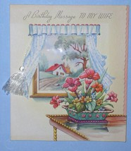 VINTAGE 1940'S BIRTHDAY GREETING CARD SCRAPBOOKING IDEA - $9.99