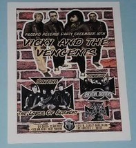 Vicky And The Vengents Concert Promo Card 2011  El Cid - $12.99