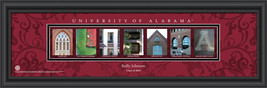 Personalized University of Alabama Campus Letter Art Print - $33.96
