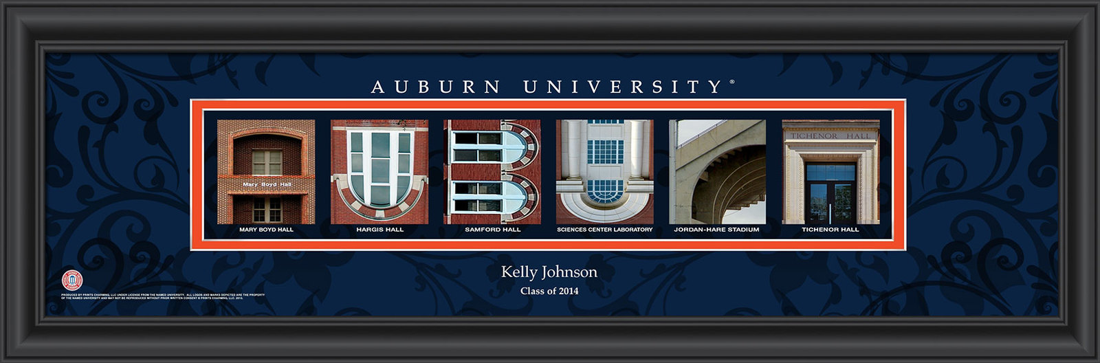 Primary image for Personalized Auburn University Campus Letter Art Print