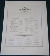 THE NEW YORK TRUST COMPANY FORTUNE MAGAZINE AD 1937 - $14.99