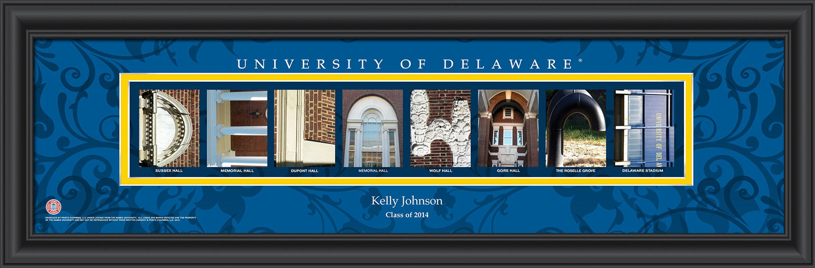 Primary image for Personalized University of Delaware Campus Letter Art Print