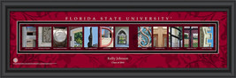 Personalized Florida State University Campus Letter Art Print - $33.96