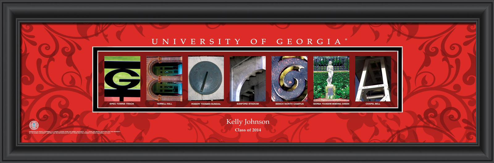 Primary image for Personalized University of Georgia Campus Letter Art Print