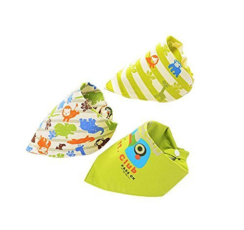 3Pcs Adjustable Soft Baby Neckerchief/Saliva Towel,Baby's Gift