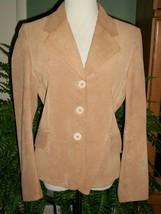 Metro Style Camel Brown Suede Blazer/Jacket SZ10 - $19.80