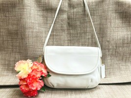 NWT Rare Coach Cafe Bag in White Leather - Crossbody style 4111 - USA Ma... - $148.49