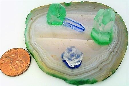 Agate quartz display  3