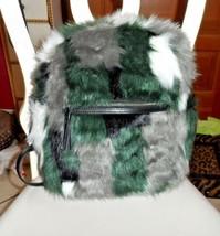 Vera Bradley New Faux Fur Leighton Backpack in Siberia  NWT - $120.00