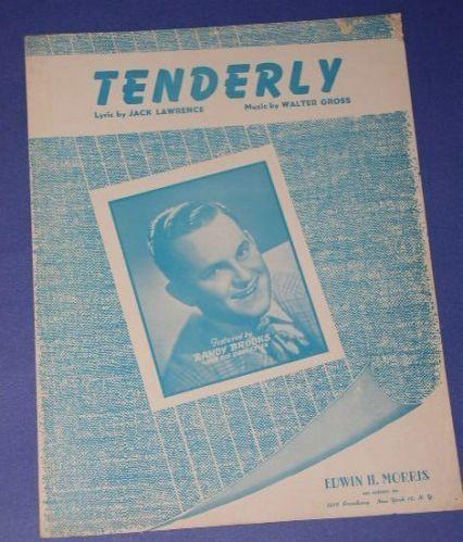 RANDY BROOKS VINTAGE SHEET MUSIC 1946 TENDERLY