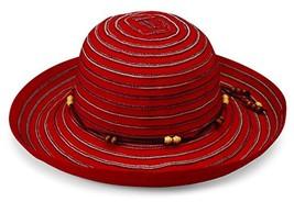 Wallaroo Hat Company Women's Breton Sun Hat - UPF 50+ - Packable, Red - $55.51