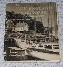 New England Calendar Vintage 1948 Samuel Chamberlain - $19.98