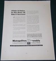 METROPOLITAN WEEKLY FORTUNE MAGAZINE AD VINTAGE 1937 - $14.99