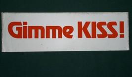 Kiss Vintage Bumpersticker Kiss Gene Simmons Sticker - $22.99