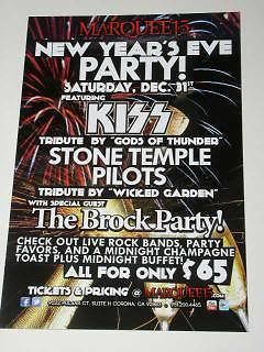 Primary image for KISS Tribute Band Promotional Concert Card New Years Eve
