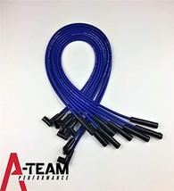 A-Team Performance 8.0mm Blue Silicone Spark Plug Wires BBF FE Big Block Compati