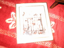 """M.J. Hummel Gallery """"Behind The Fence"""" Collectible Ceramic Postcard - $12.00"""