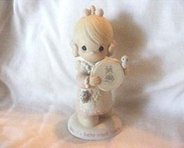 """Precious Moments Figurine """" Birds of a Feather Collect Together"""" #E-0006 - $7.50"""