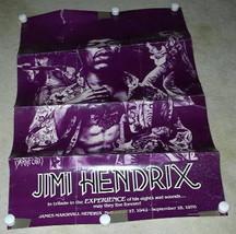 JIMI HENDRIX TRIBUTE POSTER VINTAGE 1988 BRADFO... - $19.98