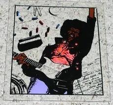 Jimi Hendrix Graphic Art Obituary Pic On Plexig... - $24.99