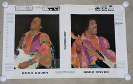 JIMI HENDRIX CONCERT BOOK COVER VINTAGE 1981 ROCK N SCHOOL PRODUCTS - $24.99