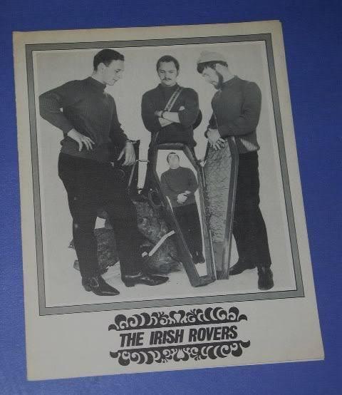 IRISH ROVERS VINTAGE FLYER ORIGIN UNKNOWN - $18.99