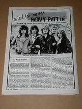 Heavy Pettin Hit Parader Magazine Photo Vintage 1985 - $12.99