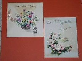 Hallmark Vintage Greeting Card 1946 Norcross Set Of 2 - $12.99