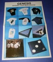 Genesis Vintage Tour Merchandise Flyer Invisible Touch - $22.99
