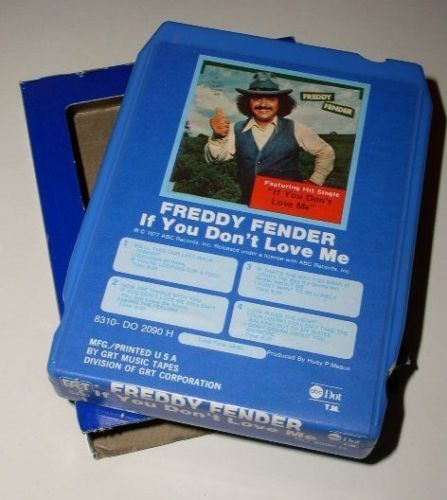 Primary image for Freddy Fender 8 Track Tape Cartridge Vintage 1977
