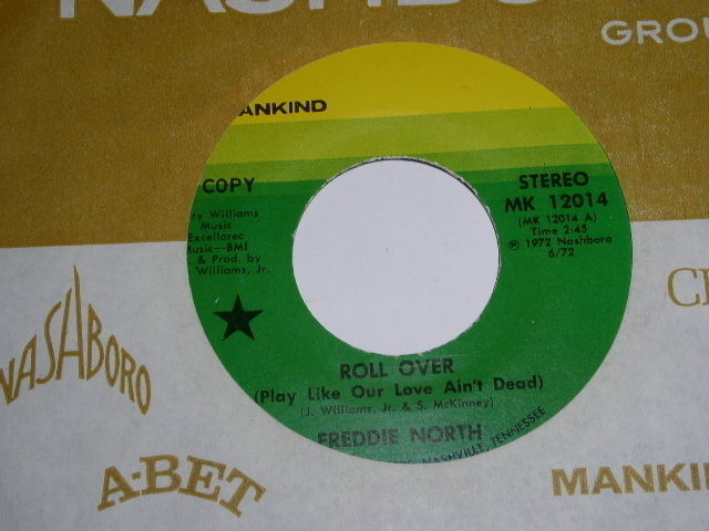 Primary image for Freddie North Roll Over 45 Rpm Record Promotional Mankind Label