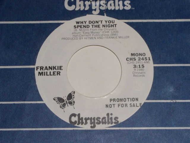 Primary image for Frankie Miller Why Don't You Spend The Night Promo 45 Rpm Record Vintage 1980