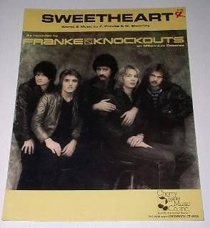 Primary image for Frankie & the Knockouts Sheet Music Vintage 1981