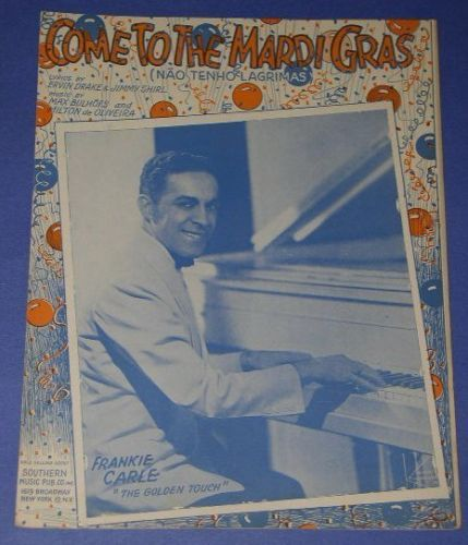 Primary image for FRANKIE CARLE VINTAGE SHEET MUSIC 1937 MARDI GRAS
