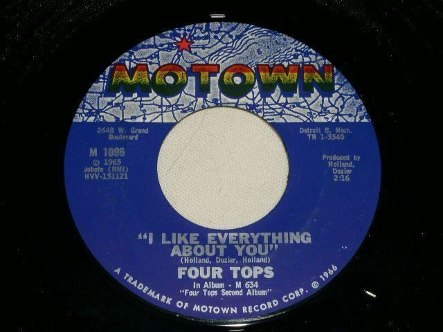 Primary image for FOUR TOPS LOVING YOU IS SWEETER THAN EVER MOTOWN 45 RPM RECORD 1965
