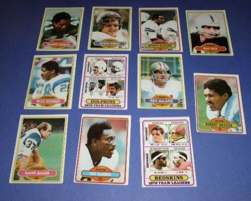 Primary image for FOOTBALL TRADING CARDS TOPS VINTAGE 1980 LOT OF 11