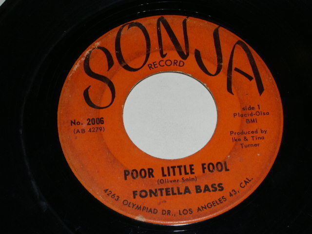 Primary image for Fontella Bass Poor Little Fool 45 Rpm Record Vintage Sonja Label