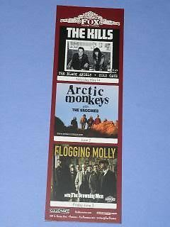 Primary image for Flogging Molly Concert Promo Card Fox Theatre Pomona