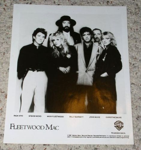 Primary image for Fleetwood Mac Promotional Photo 1987 Stevie Nicks